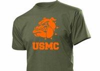 United States Marine Corps T-Shirt Bulldogge US Army S-XXL Drill Instructor USMC