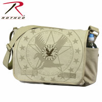 US Army Messenger Bag Flying Eagle Insignia Canvas...