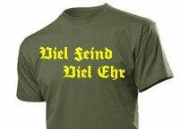 """T-Shirt """"Viel Feind Viel Ehr"""" Motto Fun Shirt Gr S-XXL WH WK2 Cooler Spruch"""