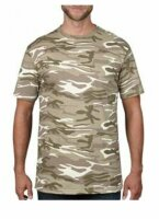 T-Shirt 3-color Sand Camouflage Tarnung US Army Desert...