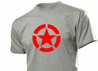 T-Shirt Allied Star US Army Airforce Marines Navy Seals...
