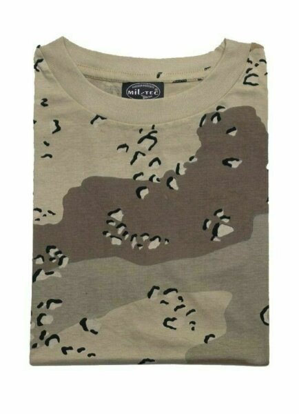 T-Shirt Chocolate Chip Tarnung 6-color Camouflage US Army Camo WW2 WK2 Isaf Kfor