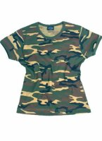 T-Shirt Damen 3-color Woodland Camouflage Tarnung US Army...