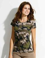 T-Shirt Damen 3-color Woodland Urban Night Camouflage...