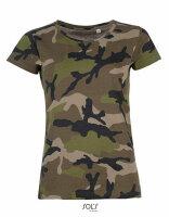 T-Shirt Damen 3-color Woodland Urban Night Camouflage Tarnung US Army Camo Women