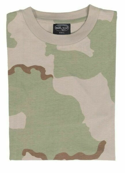 T-Shirt Desert Storm Tarnung 3-color Camouflage US Army Camo WWII WK2 Isaf Kfor