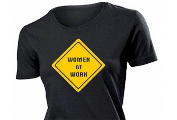 """""""Women at Work"""" T-Shirt Women Roundneck"""