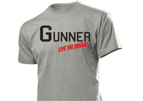 Gunner Live the Dream US Marines Navy Army T-Shirt