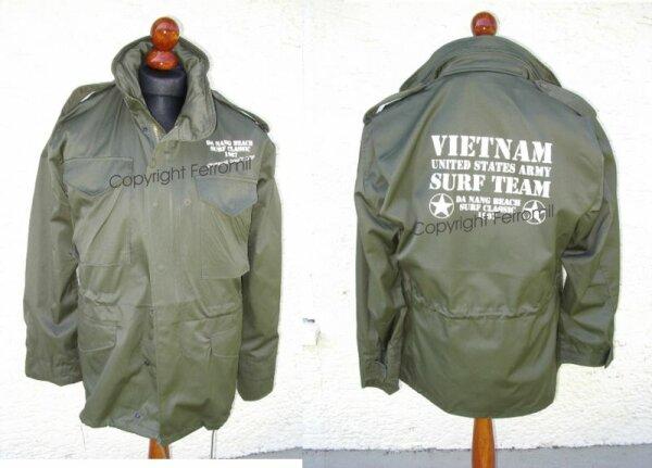 Charlie Don`t Surf US Army Vietnam 1967 M65 Fieldjacket Size S-4