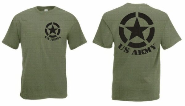 US Army T-Shirt mit Allied Star WK2 WWII US Airforce