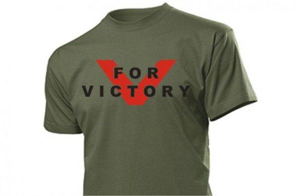 V for Victory T-Shirt Slogan