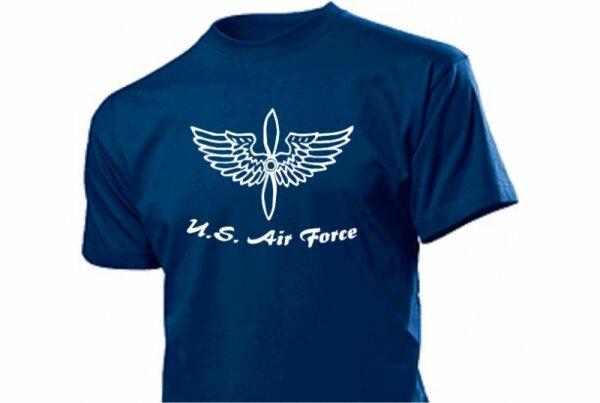 US Airforce T-Shirt Flügel mit Propeller