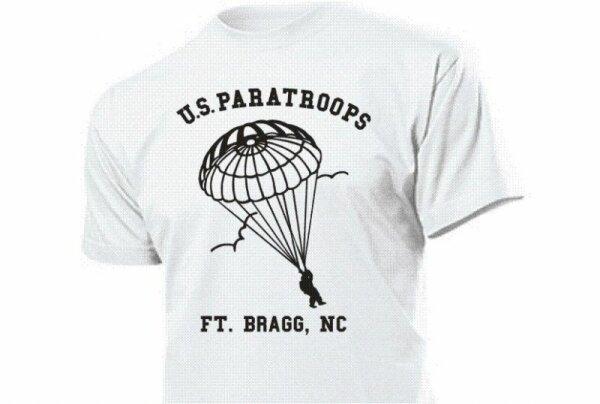 US Army T-Shirt Paratroops Ft. Bragg, NC FJ Gr S-3XL