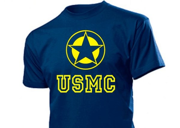 "T-Shirt ""USMC mit Allied Star"""