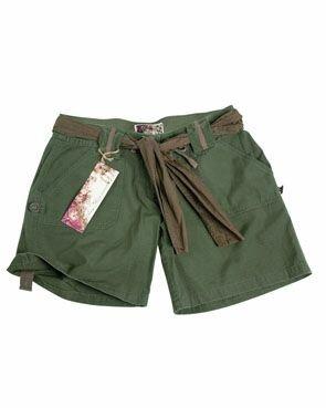 US Army Shorts Women Damen Shorts Oliv