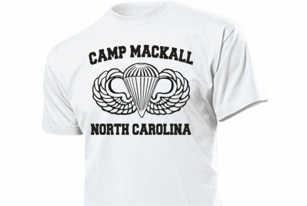 Camp Mackall US Army Airforce Paratrooper T-Shirt