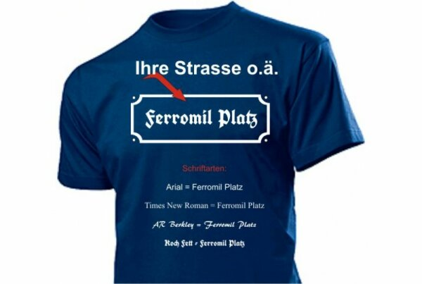 Streetsign Emaille Fun T-Shirt