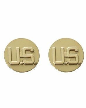 1p US Collar Tags EM US Officer Gold