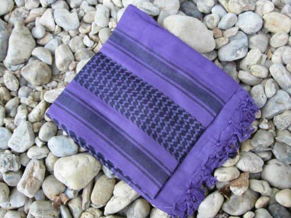 PLO Scarf Palästinenser Shemagh Purple/Black