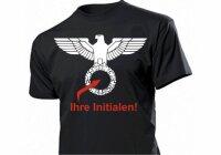 Reichsadler T-Shirt mit Initialen