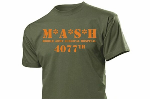 MASH 4077 T-Shirt M*A*S*H 4077th #2 M.A.S.H. WH US Army
