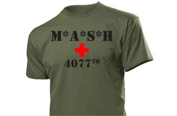 MASH 4077 T-Shirt M*A*S*H 4077th #3 M.A.S.H. WH US Army