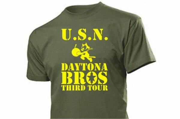 USN Daytona Bros US Army Navy T-Shirt