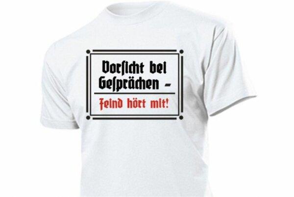 """T-Shirt """"Vorsicht bei Gesprächen - Feind hört mit"""" Size S-3XL"""