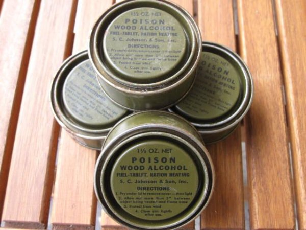 US Army WWII WK2 Ration Heating orig 1944