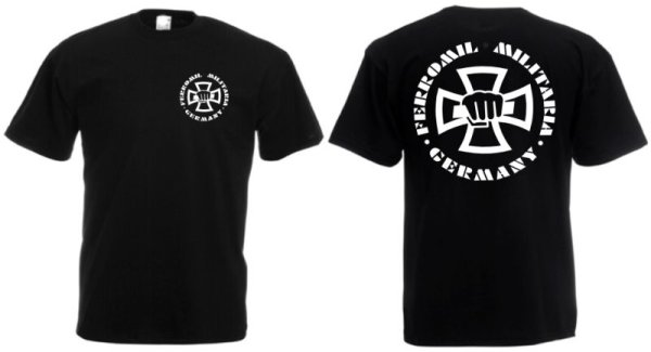 Ferromil Militaria Germany T-Shirt Black Size S-5XL