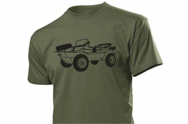 T-Shirt Oliv mit Schwimmwagen Typ166