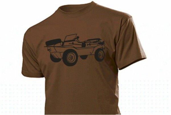 T-Shirt Braun mit Schwimmwagen Typ166
