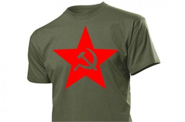 Roter Stern Hammer & Sichel T-Shirt