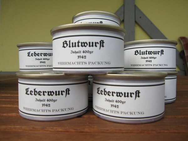 Leberwurst Wehrmachts Packung 1942 3Stück