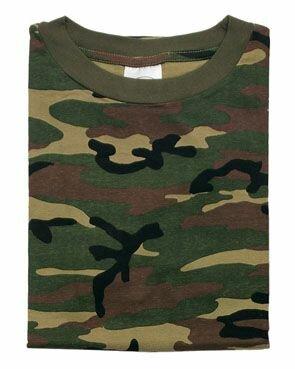 T-Shirt Woodland Tarnung US Army Camo