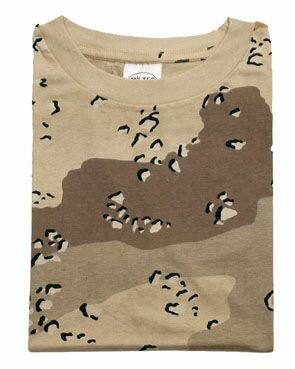 T-Shirt 6-color Desert Storm US Army Chocolate Chip