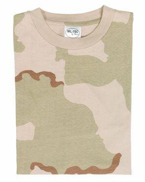 T-Shirt 3-color Desert Storm US Army Camo