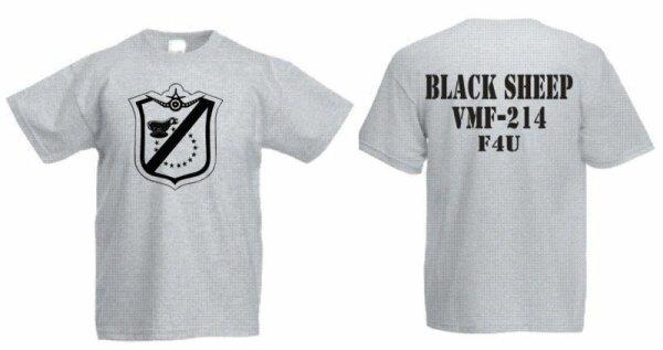 US Marines Blacksheep VMF-214 F4U T-Shirt