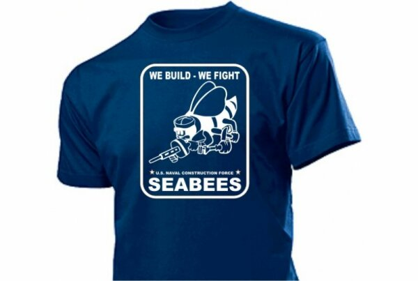 US Army Seabees T-Shirt Naval Construction US Navy