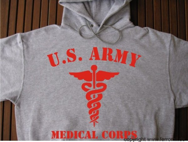 Hooded Sweater Medical Corps US Army
