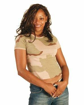 T-Shirt Woman 3-Color Desert Camo US Army