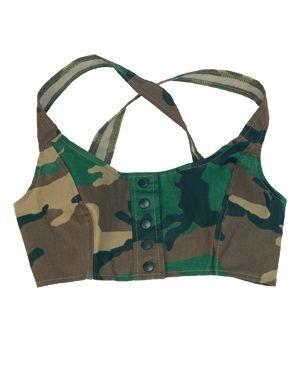 Bustier Woman 3-Color Woodland Camo US Army