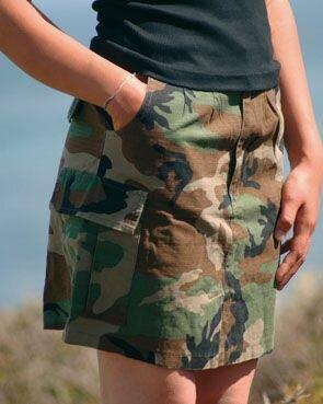 US Army Women Skirt BDU Ripstop Woodland Camo