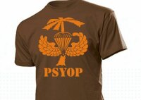 T-Shirt US Army PSYOP Palmtree Airborne Wings