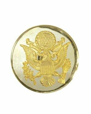 Drill Seargant Cap Button Gold