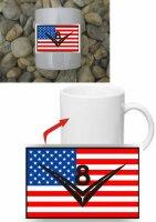V8 US Car mit US Flagge Kaffeetasse #2