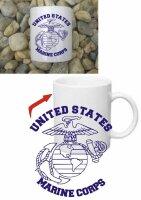 United States Marine Corps USMC Insignia Kaffee Tasse