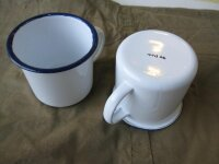 2 Emaile Cups White mtd44