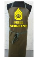 Grill Sergeant US Army Schürze Grillschürze