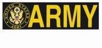 United States Army Insignia Bumper Sticker